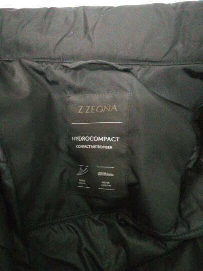 Ermenegildo Zegna 杰尼亚 男士黑色聚酯纤维隐藏式连帽夹克棉衣 VH017 ZZ065 K09 XS 晒单图