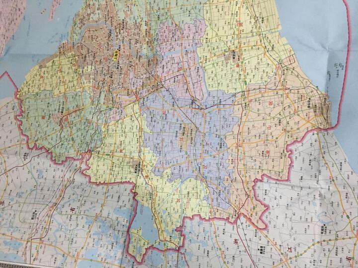 2019全新正版上海市地图 上海市全图 约1.1米 清晰分省行政交通物流水系地形等信息翔实  晒单图