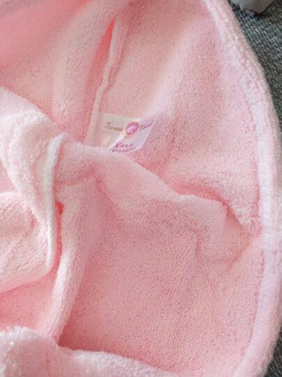 馨牌 毛巾家居 干发帽单条装 柔软不掉毛干发巾 强吸水速干浴帽加大加厚包头巾 粉色 晒单图