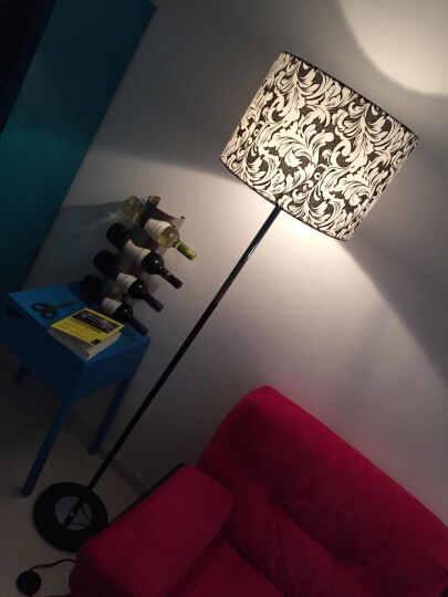 现代简约落地灯客厅北欧后现代酒店客房装饰卧室书房个性创意立式台灯钢琴陪读灯 L159铬 脚踏开关/送LED灯泡 晒单图