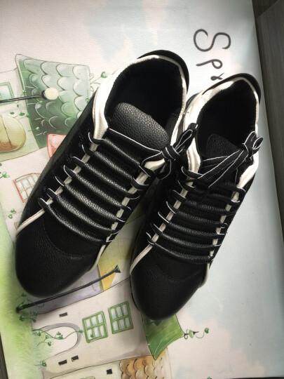 领跑晟泽男鞋韩版休闲鞋网鞋男子男男板鞋春季新款男士皮鞋潮流 黑色1505 43 晒单图
