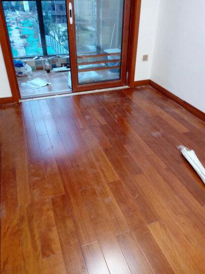 金福昌王 地暖地热地板番龙眼纯实木地板锁扣地板木地板厂家直销 黄花梨色 锁扣 900*116*17mm 晒单图