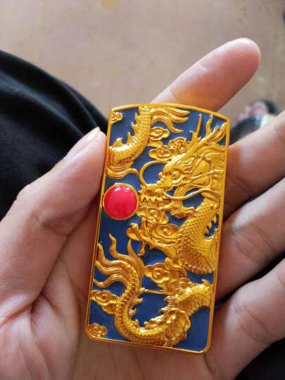奇域 神龙戏珠USB充电打火机防风电热丝电子点烟器 送男朋友生日礼物 创意时尚个性打火机免费刻字 神龙戏珠蓝色 晒单图