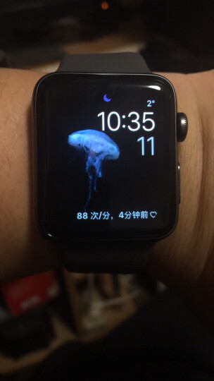 Apple Watch Series 3智能手表(GPS款 42毫米 深空灰色铝金属表壳 灰色运动型表带 MR362CH/A) 晒单图