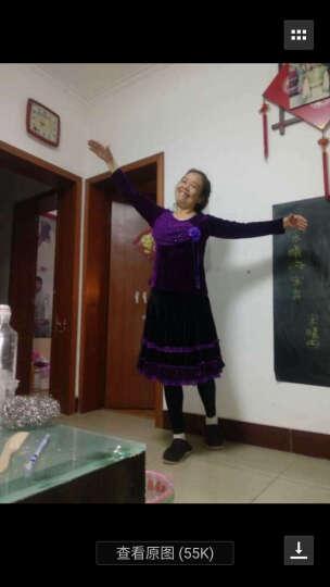 朵俏 广场舞服装套装春金丝绒舞蹈演出服长袖上衣裙裤中老年大码女 红色 2XL 晒单图