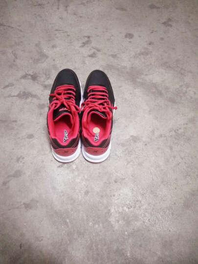 特步男鞋网面透气皮革面跑步鞋秋冬季新款增高运动鞋休闲鞋 男士复古户外旅游鞋舒适板鞋慢跑鞋子 X761黑兰 43 晒单图
