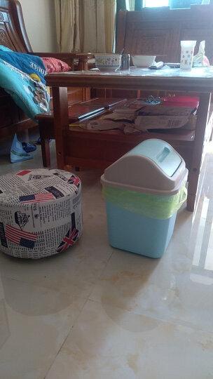一口米 创意摇盖式大号有盖垃圾桶 家用 客厅卧室厨房卫生间家用卫生桶 带盖小号翻盖塑料垃圾收纳筒纸篓 带盖-蓝色 小号 10L(23*23*32cm) 晒单图