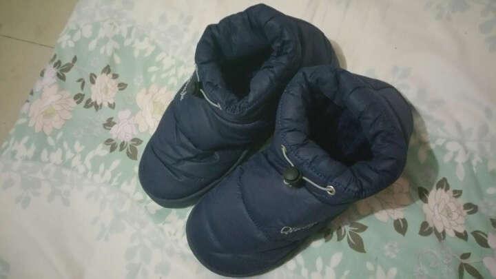 翼麦(THASF) 翼麦棉拖鞋冬季防水棉鞋包跟家居家男女厚底保暖防滑月子拖鞋 湖蓝 鞋底注36-37(适合34-35脚穿) 晒单图