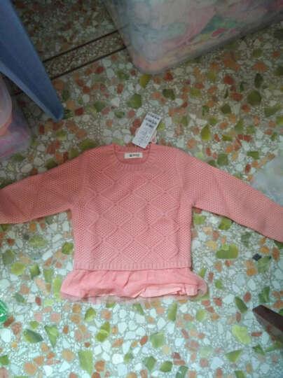 小猪班纳(PEPCO)儿童毛衣 女童圆领长袖衫中大童休闲毛衣 125341095 日出红 110 晒单图