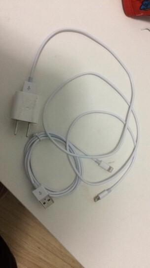 【2件装】蜂翼 苹果XSMax/XR/X/8/7/6s数据线 1.5米白色 手机充电器线电源线 iPhone7p/Plus/ipad air mini 晒单图