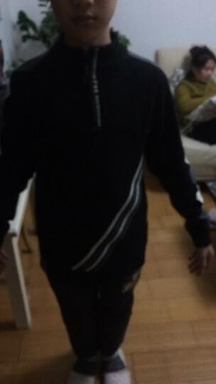 猫猫果 儿童男童毛衣套头秋冬装男孩羊毛针织衫休闲6中大童8长袖9立领拉链打底衫10岁潮 大红色 130码 晒单图