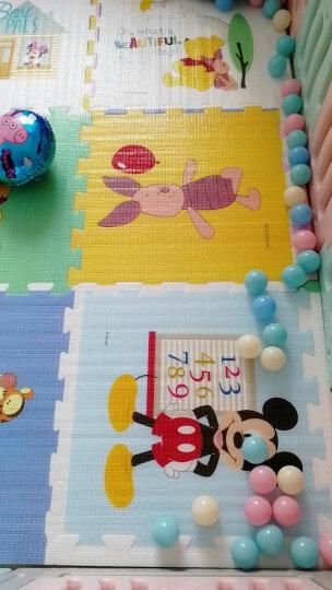 迪士尼DISNEY 宝宝爬行垫 婴儿拼接爬爬垫 泡沫拼图防滑地垫游戏毯加厚2CM 60*60cm 晒单图