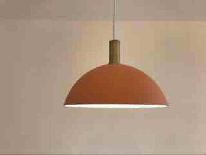 光团精工 费尔姆吊灯 北欧丹麦设计师餐厅吧台卧室床头灯创意个性loft单头马卡龙小吊灯 短灯头电镀拉丝旧铜色(含光源) 晒单图