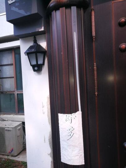 壁灯家用太阳能灯阳台花园庭院户外防水人体感应led壁灯 白光 晒单图
