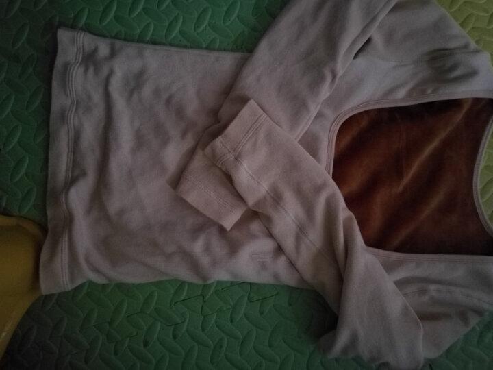 低领保暖内衣女加绒加厚托胸打底衫哺乳紧身长袖单件上衣 肤色 均码(90-130斤) 晒单图