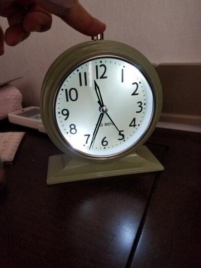 北欧国度 NOMO 北欧气质款 美式乡村安德鲁静音钟表座钟-平底 闹钟桌面钟台钟 白色款 晒单图