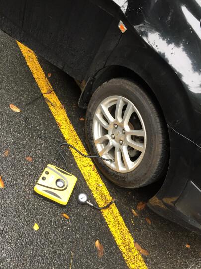 车行天下 车载充气泵12V汽车车用小轿车轮胎便携式迷你电动打气泵筒 新升级指针款+工具+工具箱 靓丽黄 晒单图