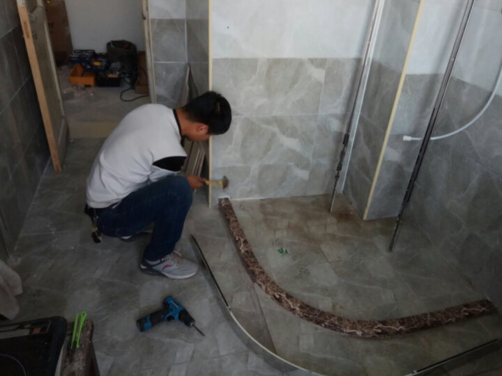 迪玛 淋浴房弧扇型304不锈钢钢化玻璃整体淋浴房间隔断浴室 定制其他尺寸,详情咨询客服 8mm钢化玻璃 晒单图
