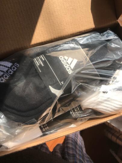 阿迪达斯adidas男女袜子运动休闲棉袜六双装条纹35-38码 晒单图