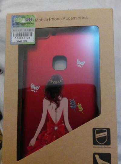 莫凡vivoX20手机壳vivoX20A保护套女款全包防摔硬壳立体浮雕个性新款创意 红悦 晒单图