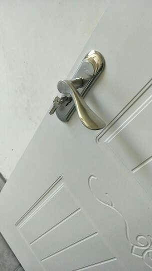 不锈钢室内门锁简约实木卧室套装门锁把手 左右通用可拆卸下单送福袋 ST10002 晒单图