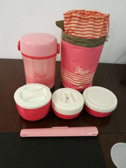 膳魔师(THERMOS)饭盒带提绳带杯套手提式保温饭盒儿童成人JBC 801 JBC801粉色 晒单图