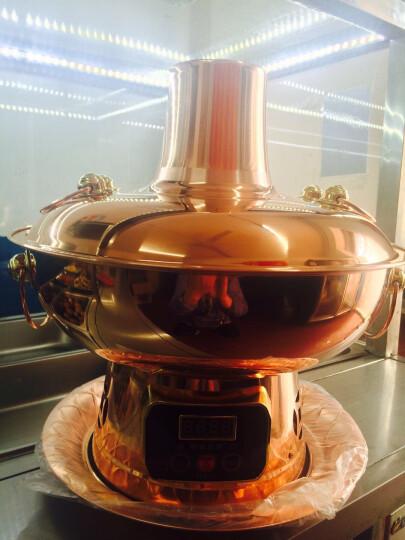 莱釜 32c纯紫铜火锅 电铜火锅 加厚木炭 电炭两用火锅 铜锅火锅 紫铜34cm清汤型 晒单图