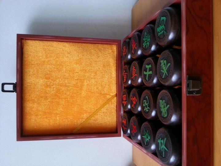 弗郎蒂尔 红酸枝 黑檀 红花梨 阳雕 老红木象棋 大号木雕象棋 收藏礼品 皮革棋盘 红花梨6公分配手提箱 晒单图