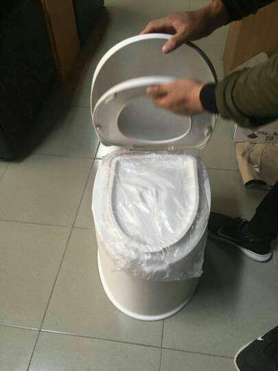 移动马桶坐便器便携塑料老人孕妇分体式简易车载旅行座便器 乳白色 晒单图