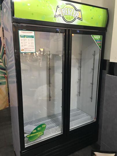 乐创(lecon)立式冰柜双门展示柜冷藏保鲜三门商用冰箱饮料超市冷柜水果厨房陈列柜凉菜点菜柜直冷风冷 三门绿黑色 晒单图