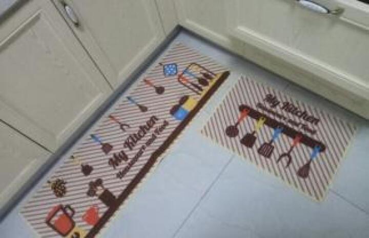 惠多 厨房地垫防滑防油防水地垫家用门口进门垫子耐脏门垫吸水脚垫 水果浅灰 40*60+40*120CM【套装】 晒单图