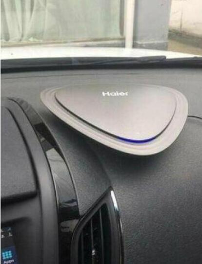 海尔(Haier)CJ05A 车载空气净化器 汽车负离子氧吧车载净化器 便携式车内除甲醛杀菌PM2.5防雾霾 晒单图
