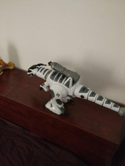 【官方认证授权】遥控恐龙机器人触摸感应机器人侏罗纪世界儿童玩具智能编程电动跳舞霸王龙机械战龙男孩女孩 智能遥控恐龙-白色 晒单图