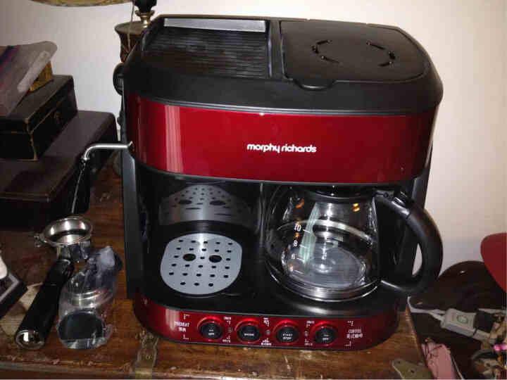 摩飞电器(Morphyrichards) 4625咖啡机家用意式咖啡美式泵压滴漏二合一 无赠版 晒单图