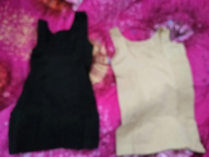 欣夢琦(XinMengQi)2件装无缝塑身衣收腹束腰背心美体束身内衣女士瘦腰瘦身衣减肚子高弹 两件装(肤+肤) M/L 晒单图
