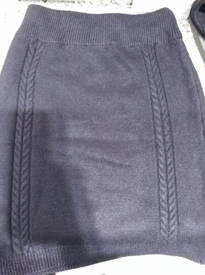 迪娜苏毛衣针织衫女连衣裙2019秋冬套装时尚名媛修身套头圆领包臀裙两件套 黑色 90-150斤均码 晒单图