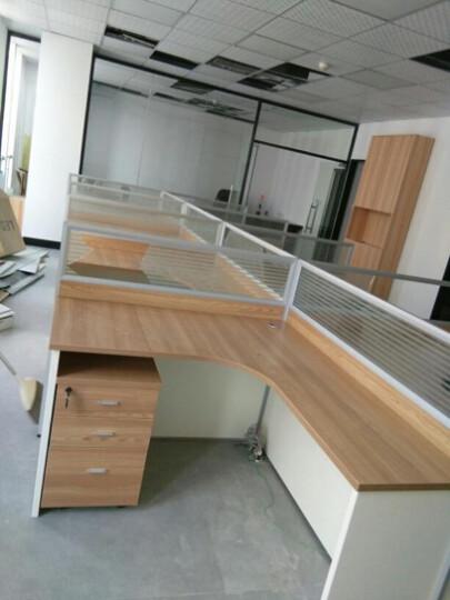 文盛 广州办公家具工作位屏风办公桌职员桌办公桌椅组合员工桌 E字型双人位(不含柜) 晒单图