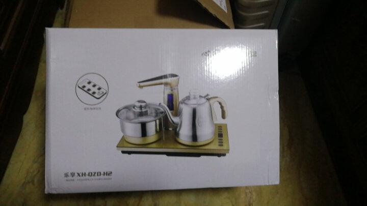 心好(xinhao) 智能遥控式全自动上水电热水壶  抽水式电水壶 电茶炉茶具套装H2 H2金色带遥控全自动双炉 晒单图