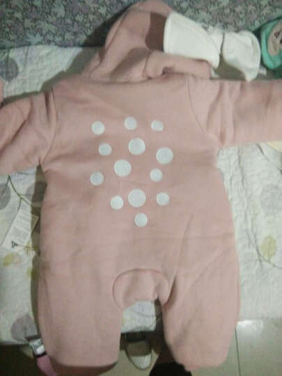 十点伴 婴儿外出连体衣冬季新款卫衣爬爬衣6-12个月婴幼儿冬装新生儿宝宝衣服外出服 粉红色 73 晒单图