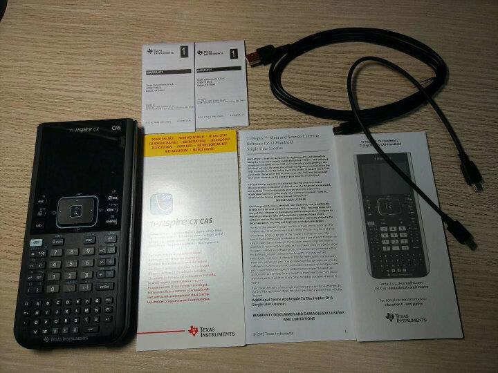 德州仪器(Texas Instruments)TI-Nspire CX CAS II 彩屏中英文编程图形计算器 AP SAT 国内外考试计算机 晒单图