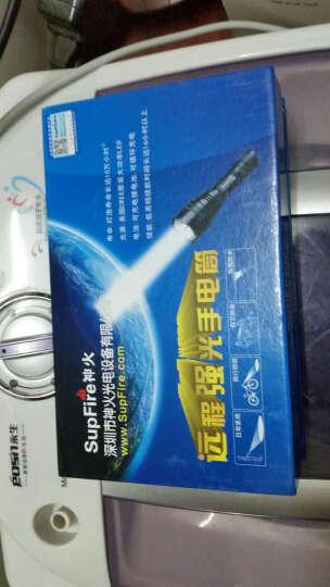 神火(supfire)T10强光手电筒 10W进口XML2(T6)灯泡超高流明 LED远射防水救急防身手电 配18650电池充电器 晒单图