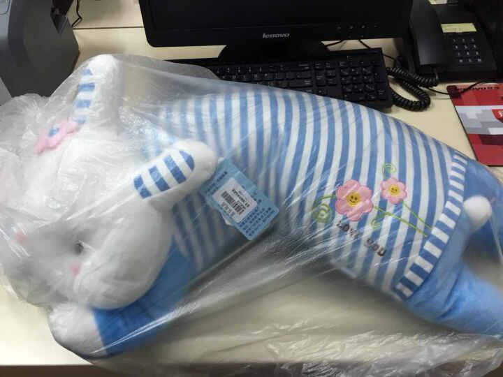 唯米 趴趴兔兔毛绒公仔抱枕午睡枕头布娃娃/情侣生日礼物高品质 条纹粉色 70cm 晒单图