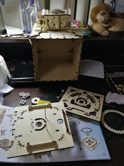 乌克兰ugears木质机械传动立体拼装模型手工diy玩具成人创意实用生日礼物情人节送男女友 电车沿线风景 晒单图