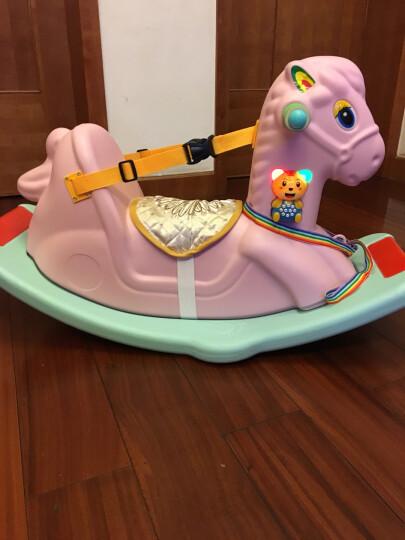 摇摇马木马儿童玩具男孩女孩1-3岁宝宝音乐摇马益智安全带款摇马婴儿小木马一周岁生日礼物益智玩具 (音乐安全带款)蓝色摇摇马+音乐手拍鼓 豪华版(送故事机) 晒单图