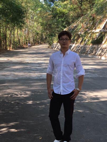 JDV男装 热卖新款男士商务休闲衬衫休闲衬衣 WIF5808WHT 白色 170/88A 晒单图