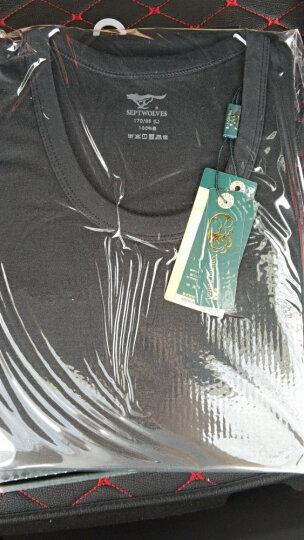七匹狼 夏季男士内衣打底T恤 V领男装短袖背心 紧身打底衫潮汗衫透气半袖 白色 L(170/95) 晒单图