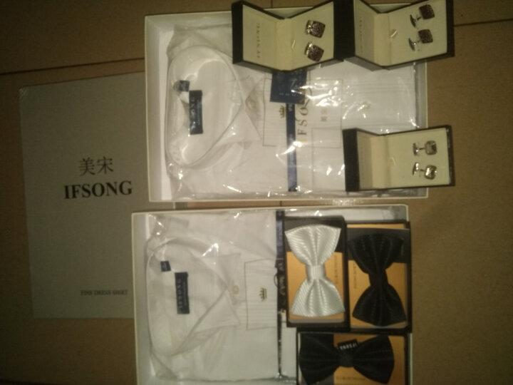 IFSONG美宋 男士正装礼服袖口袖扣 法式衬衫袖钉 礼盒装 金黄色XK1606 晒单图
