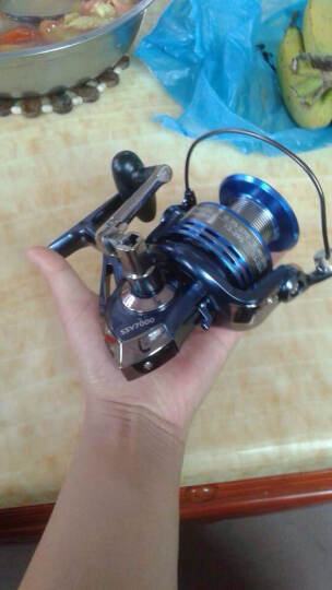 渔掌门 希诺蓝色1000-7000纺车轮渔轮金属头鱼轮10+1轴承鱼线轮渔线轮海竿轮钓鱼轮 4000型 晒单图