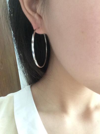 月下 时尚银圈圈 925银耳环 韩版大圈 耳饰新款 时尚大方耳钉 光面直径5.0cm 晒单图