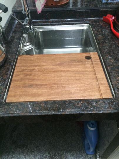 阿萨斯(ASRAS)天然实木 红木菜板厨房水槽砧板 26*39cm 晒单图